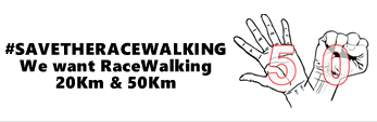 Protest to save racewalking 20Km & 50Km